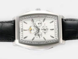 Fake Cool IWC Da Vinci Perpetual Calendar Automatisk med White Dial AAA Klokker [ N5A4 ]