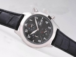 Fake Cool IWC Saint Exupery Chronograph Automatic with Black Dial AAA Watches [L6N8]