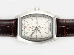 Fake Fancy IWC Da Vinci Chronograph Automatic with White Dial AAA Watches [N2M9]