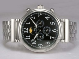 Fake Fancy IWC Da Vinci Perpetual Calendar Automatic with Black Dial AAA Watches [S4U5]