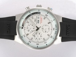 Fake Gorgeous IWC Aquatimer Chrono Cousteau Divers Automatic White Dial AAA Watches [K9U5]