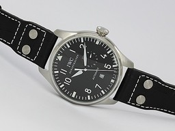Fake Gorgeous IWC Big Pilot Automatic med Black Dial AAA Klokker [ S7R1 ]