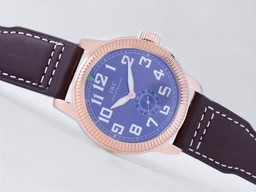 Fake Gorgeous IWC Saint Exupery Automatic Rose Gold Case with Blue Dial-AR Coating AAA Watches [U2J1]