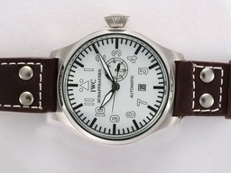 Falso Grande IWC Big Pilot Automatic com Dial Branco AAA Relógios [ G7N7 ]