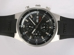 Fake Modern IWC Aquatimer Chrono Cousteau Divers Chronograph Automatic Black AAA Watches [W5Q6]