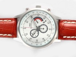 Fake Modern IWC Saint Exupery Working Chronograph with White Dial AAA Watches [D7R7]
