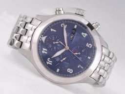 Fake Perfect IWC Saint Exupery Chronograph Automatic with Blue Dial-Number AAA Watches [C6F2]