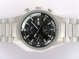 Fake Popular IWC Aquatimer Chronno-Automatic Titanium Case with Black Dial AAA Watches [W9G1]