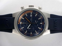 Fake Popular IWC Aquatimer Working Chronograph with Blue Dial and Blue Rubber AAA Watches [O5N5]