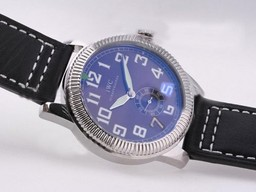 Fake Popular IWC Saint Exupery Automatic with Blue Dial-AR Coating AAA Watches [B2T6]