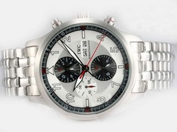 Fake Popular IWC Saint Exupery Chronograph Automatic with White Dial AAA Watches [P9N9]