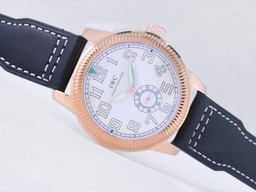 Fake Quintessential IWC Saint Exupery Automatic Rose Gold Case with beige Dial-AR Coating AAA Watches [T3S8]