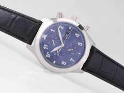 Fake Quintessential IWC Saint Exupery Chronograph Automatic with Blue Dial AAA Watches [D2D3]