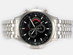Fake Quintessential IWC Saint Exupery Working Chronograph with Black Dial AAA Watches [E2L7]