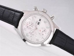 Fake Vintage IWC Saint Exupery Chronograph Automatic with White Dial AAA Watches [N5F2]