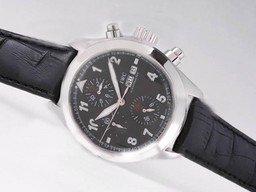 Fake Vintage IWC Saint Exupery Chronograph Automatic with Black Dial AAA Watches [K6B3]