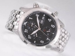 Fake Vintage IWC Saint Exupery Chronograph Automatic with Black Dial-Number AAA Watches [K7O3]