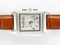 Fake Cool Jaeger-Lecoultre Reverso Working Chronogragh Diamond Bezel AAA Watches [J5K2]
