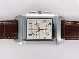 Fake Fancy Jaeger-Lecoultre Reverso Working Chronogragh with White Dial AAA Watches [D5W2]