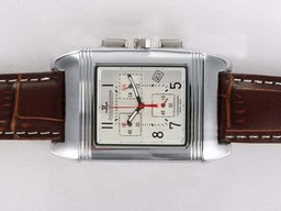 Fake Gorgeous Jaeger-Lecoultre Reverso Working Chronogragh with White Dial AAA Watches [P8S1]