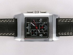 Fake Great Jaeger-Lecoultre Reverso Working Chronogragh with Black Dial AAA Watches [F3V2]