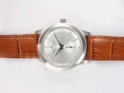 Fake Modern Jaeger-LeCoultre Eighteen Manual Winding with Silver Dial AAA Watches [C8V6]
