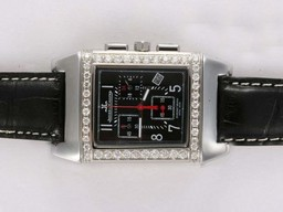 Fake Modern Jaeger-Lecoultre Reverso Working Chronogragh with Diamond Bezel AAA Watches [D1D2]