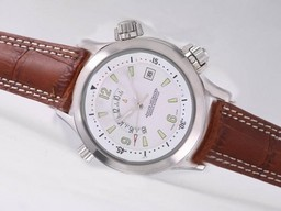 Fake Perfect Jaeger-LeCoultre Master Compressor Memovox Automatic with White Dial AAA Watches [G1G6]