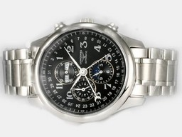 Fake Fancy Longines Master Collection Automatic with Black Dial-Ceramic Bezel AAA Watches [D1B3]