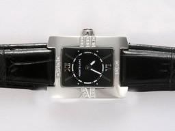 Fake Fancy Montblanc Profile Lady Elegance with Black Dial Lady Size AAA Watches [G5W8]