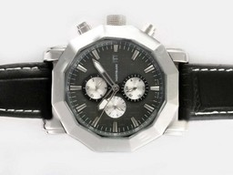 Fake Fancy Montblanc Sport Chronograph Automatic with Black Dial AAA Watches [K1V6]