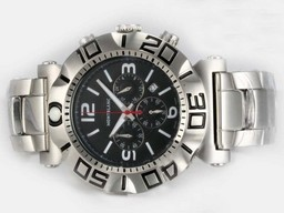 Fake Fancy Montblanc Sport Working Chronograph with Black Dial AAA Watches [X8O7]