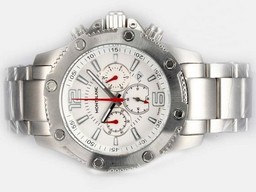 Fake Gorgeous Montblanc Sport Working Chronograph with White Dial AAA Watches [W6E7]