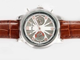 Fake Modern Montblanc Classic Chronograph Automatic with Gray Dial AAA Watches [Q9F9]