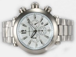 Fake Modern Montblanc Sport Working Chronograph with White Dial AAA Watches [R4R1]