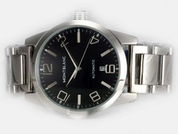 Fake Popular Montblanc Time Walker Automatic with Black Dial AAA Watches [V1L8]