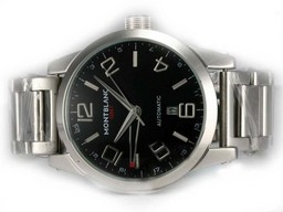 Fake Vintage Montblanc Time Walker GMT Working Automatic with Black Dial AAA Watches [Q2U4]