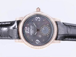 Faux Montblanc Villeret 1858 Vintage or rose cas AAA Montres [ S3O1 ]