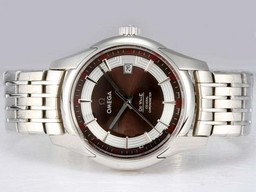 Fake Cool Omega Hour Vision See Thru Case Automatic with Brown Dial-High AAA Watches [H1O7]