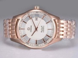 Fake Cool Omega Hour Vision See Thru Case Automatic Full Rose Gold AAA Watches [W5M9]