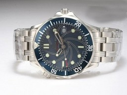 Fake Cool Omega Seamaster 007 James Bond 40 Anniversary with Blue dial AAA Watches [V9P2]
