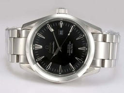 Fake Cool Omega Seamaster Aqua Terra Big Size Automatic with Black Dial AAA Watches [A5R8]