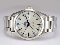 Fake Cool Omega Seamaster Aqua Terra Big Size Automatic Blue Marking AAA Watches [J2I5]