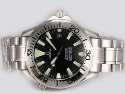 Fake Cool Omega Seamaster Automatic with Black Dial AAA Watches [T7S6]