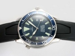 Fake Cool Omega Seamaster GMT Working Automatisk med Blue Dial -
