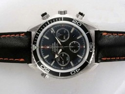 Fake Cool Omega Seamaster Planet Ocean Chronograph Movement AAA
