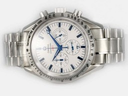 Fake Cool Omega Speedmaster 1957 Working Chronograph with White Dial AAA Watches [I5F3]