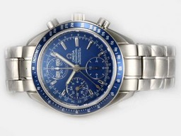 Fake Cool Omega Speedmaster Day Date 3220.80.00 Blue Dial AAA klockor [ F4S9 ]