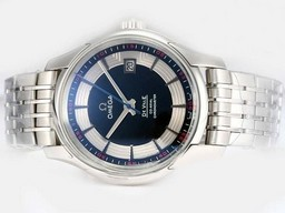 Fake Fancy Omega Hour Vision See Thru Case Blue Dial-Updated Model 21600bp AAA Watches [P5C3]