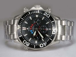 Fake Gorgeous Omega Seamaster America's Cup Working Chronograph with Black Dial AAA Watches [N7H5]